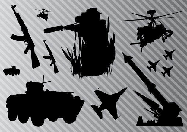 Vector Army Silhouettes
