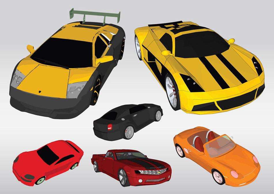 10 Cars Vectors