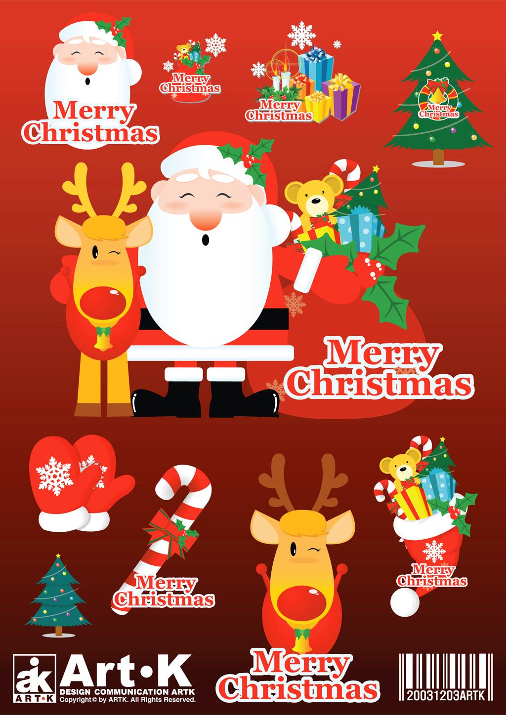 Christmas Vectors.Merry Christmas Vector Art Packs