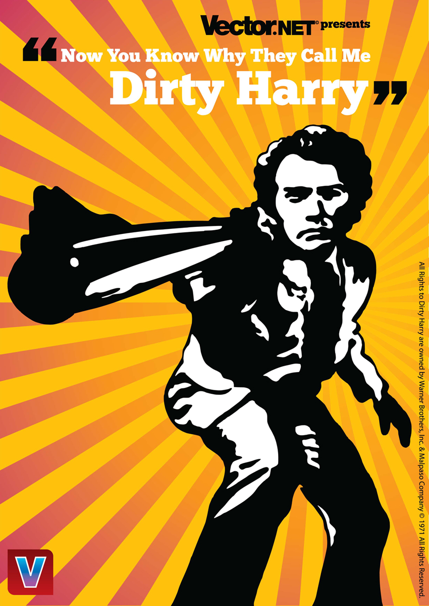 Iconic Cult Movie Vector Art Scarface Amp Dirty Harry
