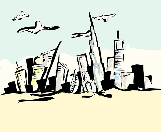 35 Dubai Inspired Vector Artworks Time Of The Giants