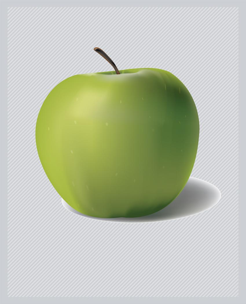 Free Vector 3d Green Apple