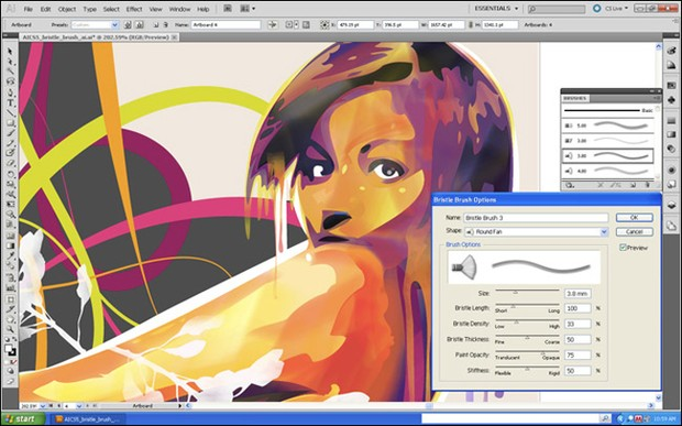 Illustrator CS5 Bristle Brush