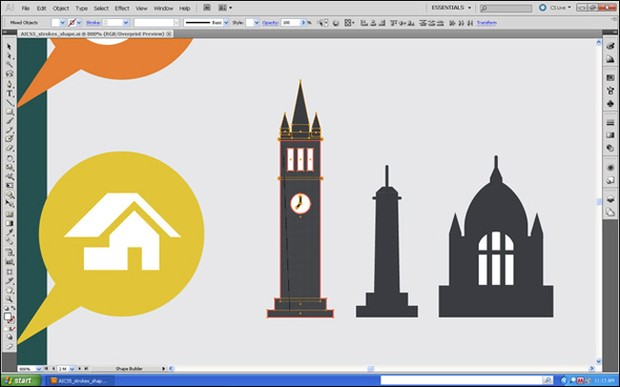 Illustrator CS5 Shape Builder