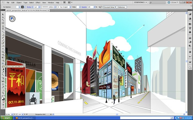 Adobe Illustrator CS5 Perspective Drawing