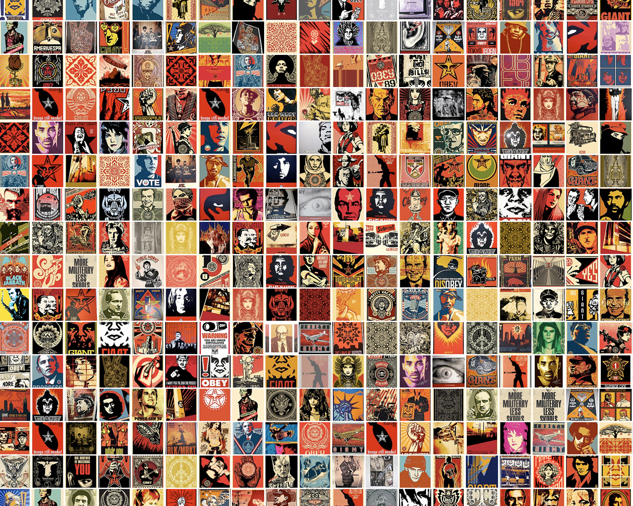 Obey Giant Collage Wallpaper