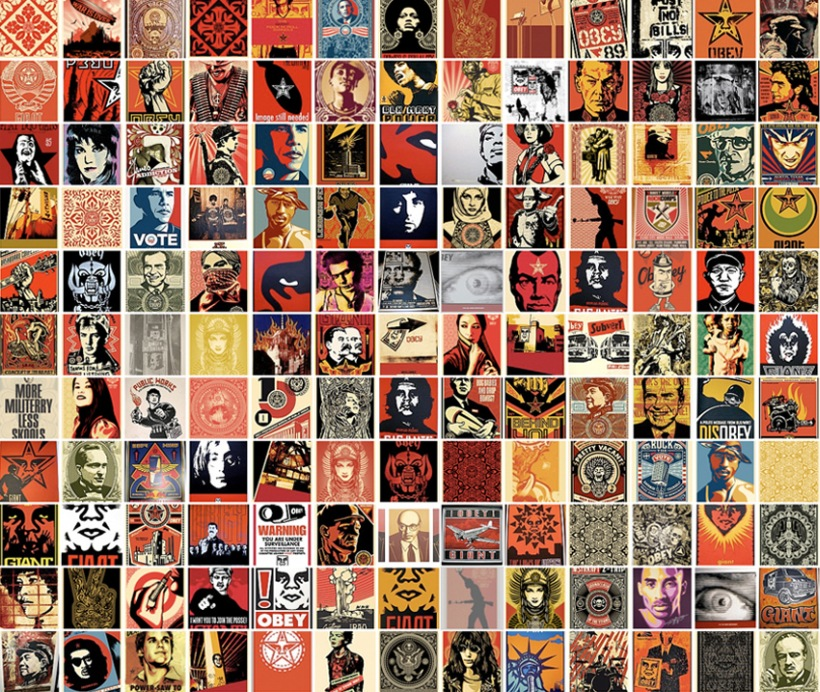 Obey Wallpaper Obey giant collage wallpaper