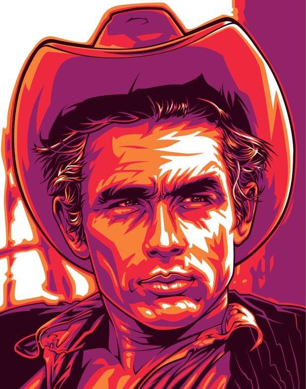 James Dean Giant Japan Vector Art Poster