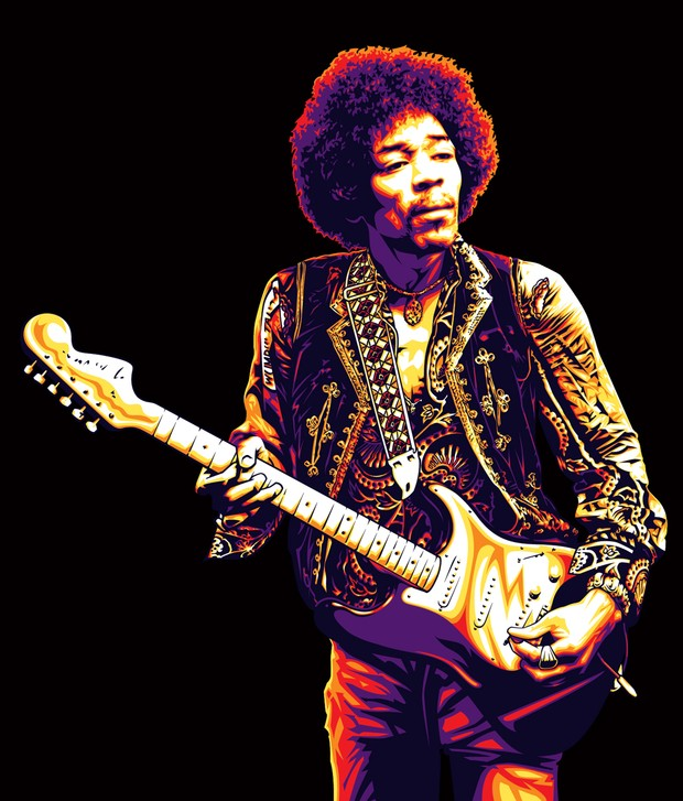 Jimi Hendrix Electric Vector Art Poster