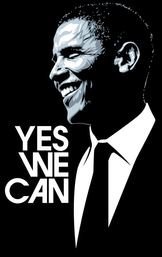 "Obama ""Yes We Can"" Vector Graphics"