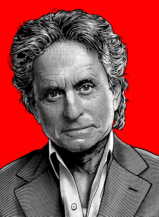 Wallstreet Vector Graphics: Michael Douglas