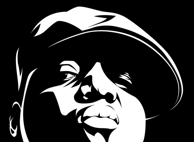 Notorious Big Vector Art Close Up.
