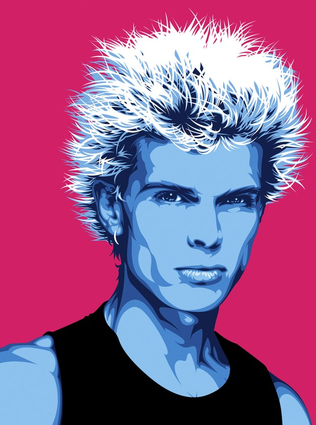 Billy Idol Vector Art