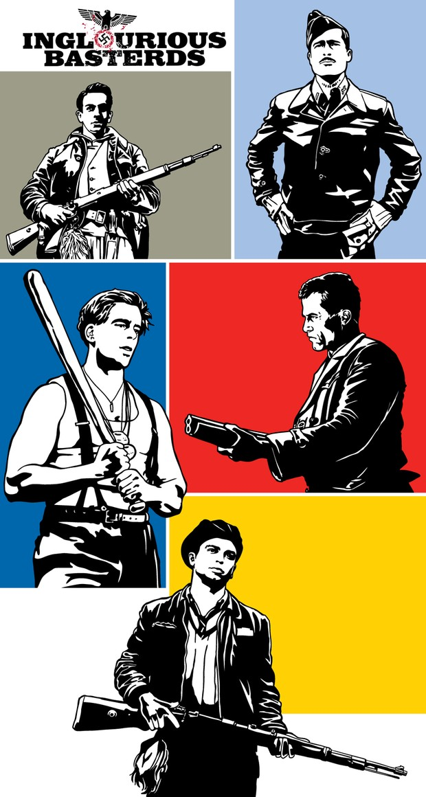 Go! Inglourious Basterds Go! Pop Art Vector Poster.