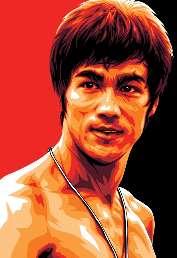 Bruce Lee Kung Fu Hero Art