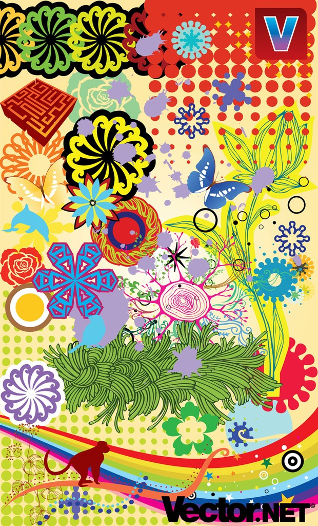 Spring and Summer Nature Vectors