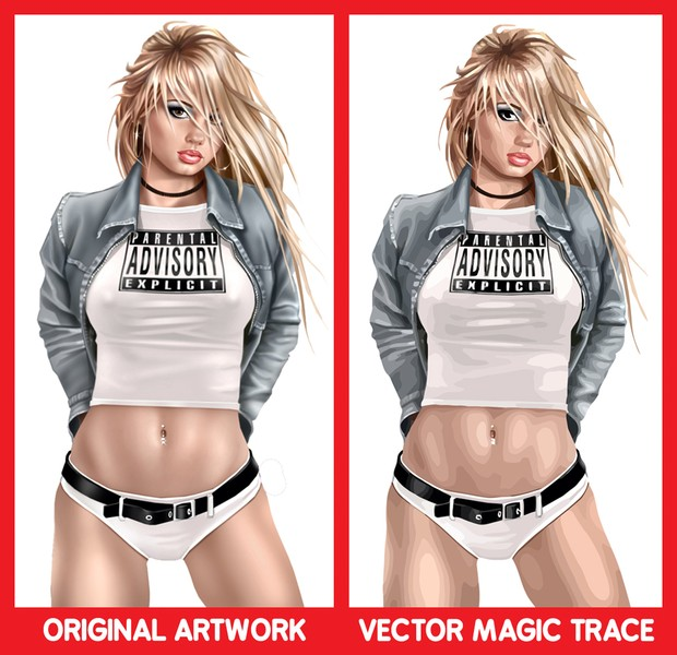 Vector Magic Girl