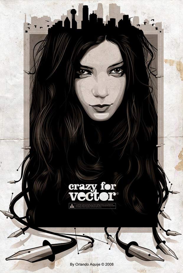 Crazy for Vector by Orlando Aquije, AtixVector