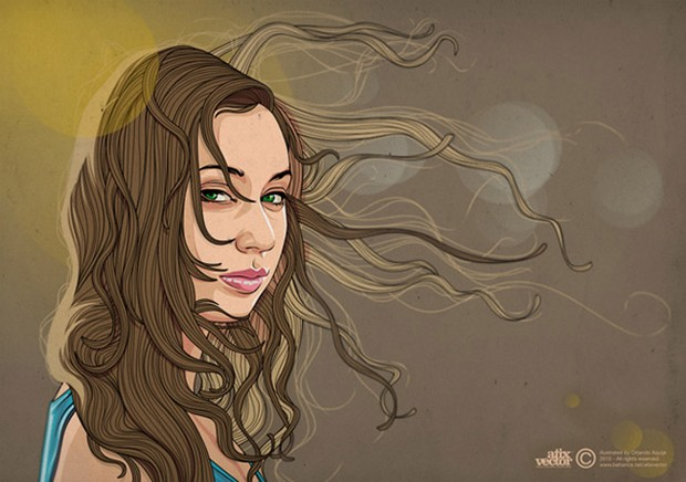 Summer Girl Illustration
