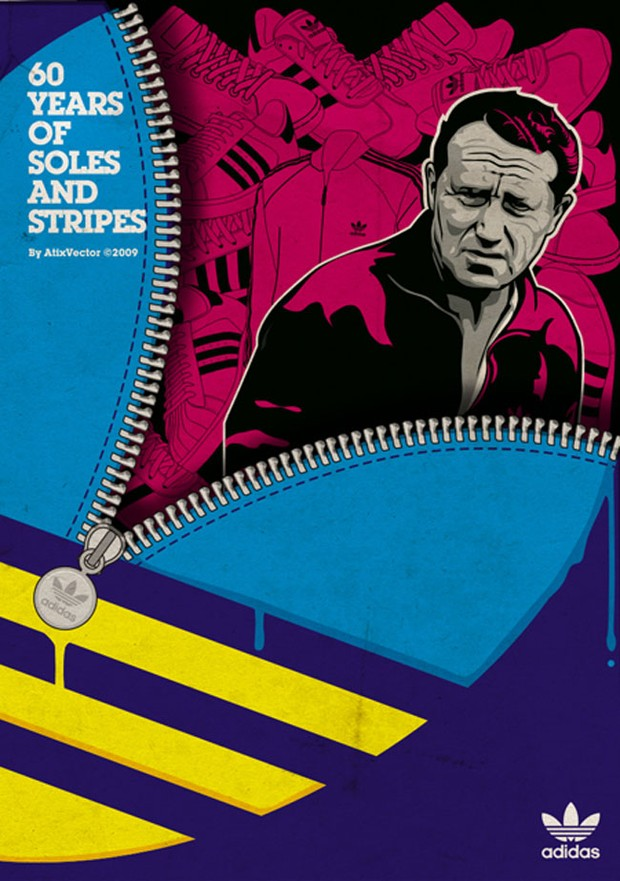 Adidas – 60 Years of Soles and Stripes, Vector Design