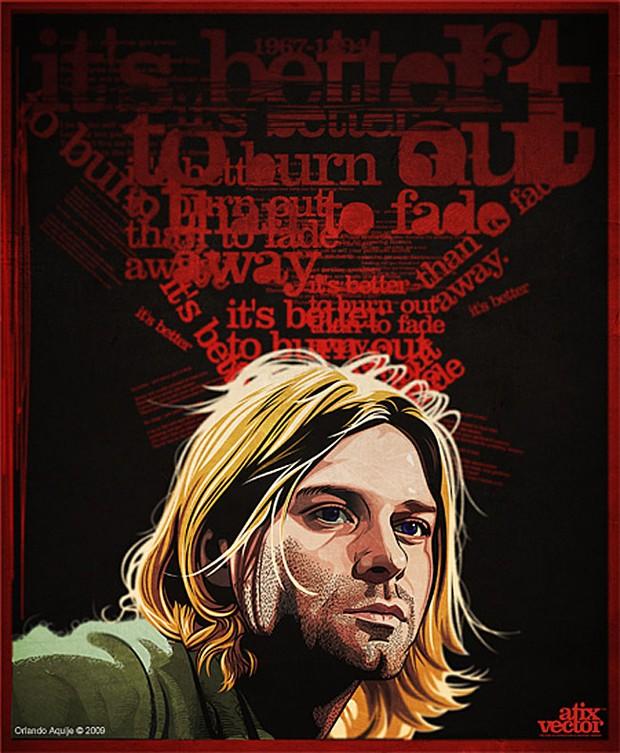 Kurt Cobain Vector Illustration