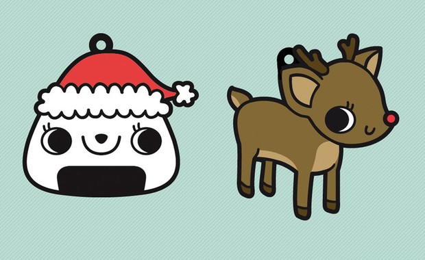 Cute Santa & Deer by Kate Cooper