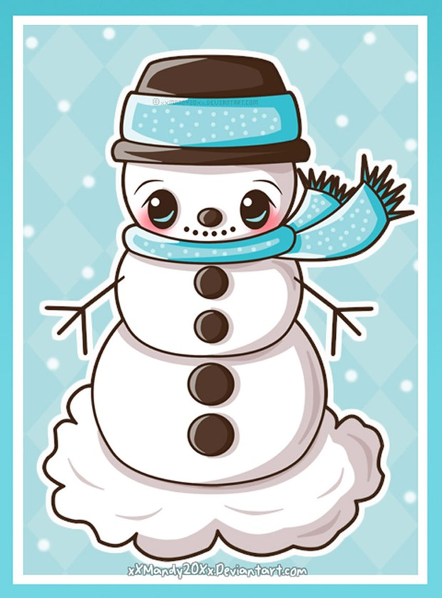Snowman Illustration by Manda Panda