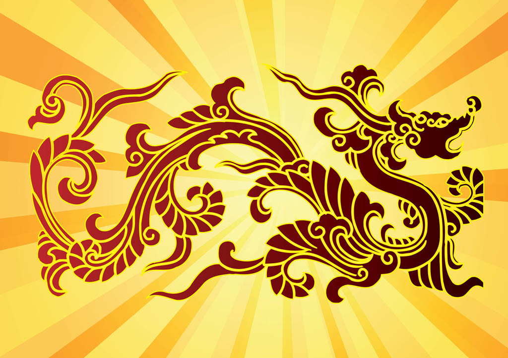 Dragon vectors for Chinese vector