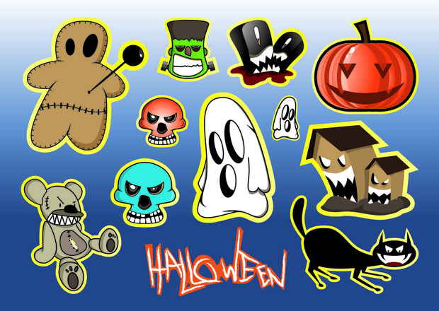 Halloween vector freebies